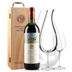 法国原瓶进口红酒 波亚克产区 木桐古堡干红葡萄酒 1981年 木桐正牌  单支 750ml