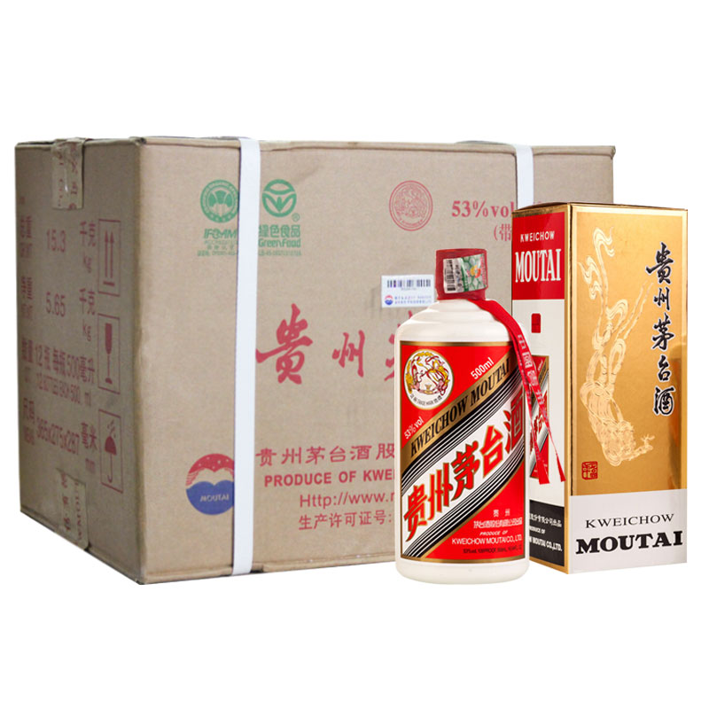 【原厂原箱老酒】2009年53°贵州茅台酒飞天茅台500ml(12瓶装)