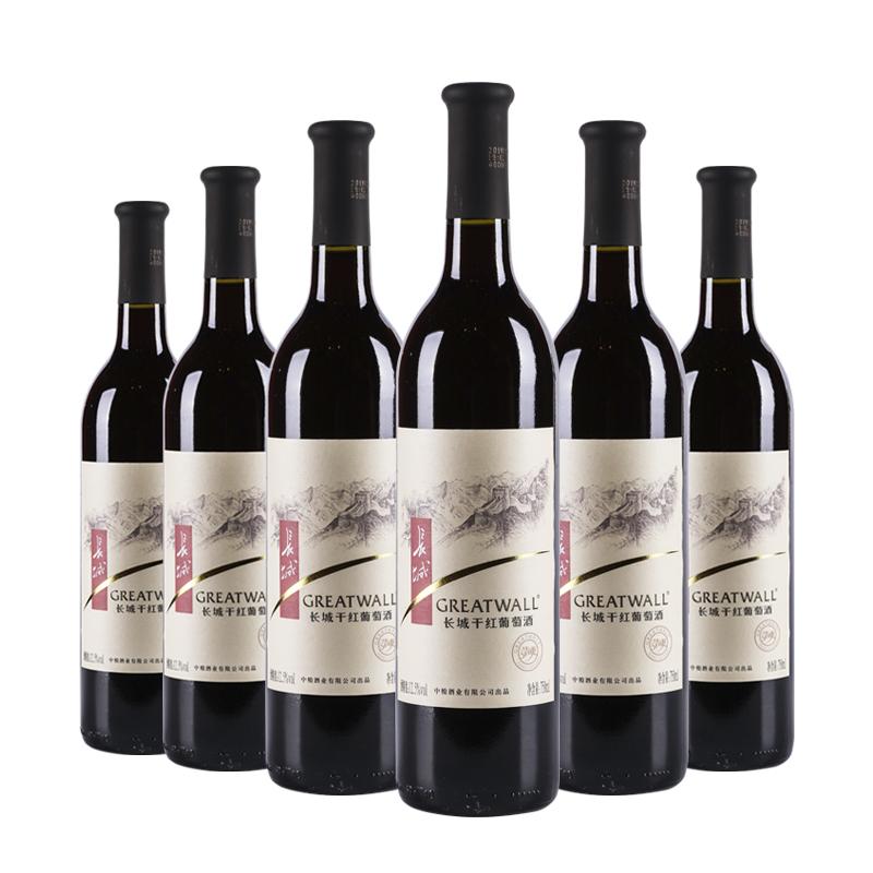 中国长城清爽干红葡萄酒750ml(6瓶装)