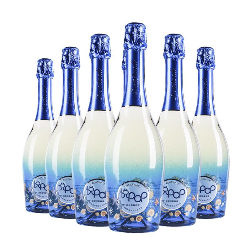 中国长城悦pop(悦泡泡)低醇白起泡葡萄酒750ml(6瓶装)