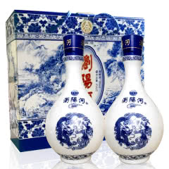 39º宜宾五粮液股份出品 浏阳河礼品酒(双瓶装) 豪华礼盒 475ml(2008年)