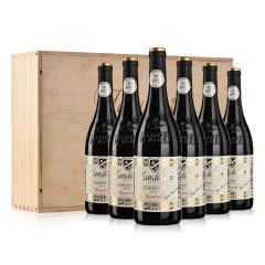 法国勆迪珍藏干红葡萄酒750ml*6(松木礼盒装)
