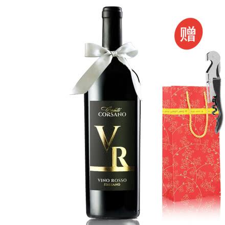 意大利原瓶进口红酒卡斯特拉尼 康特半干红葡萄酒750ml单支【买6得洋酒XO 京东配送】