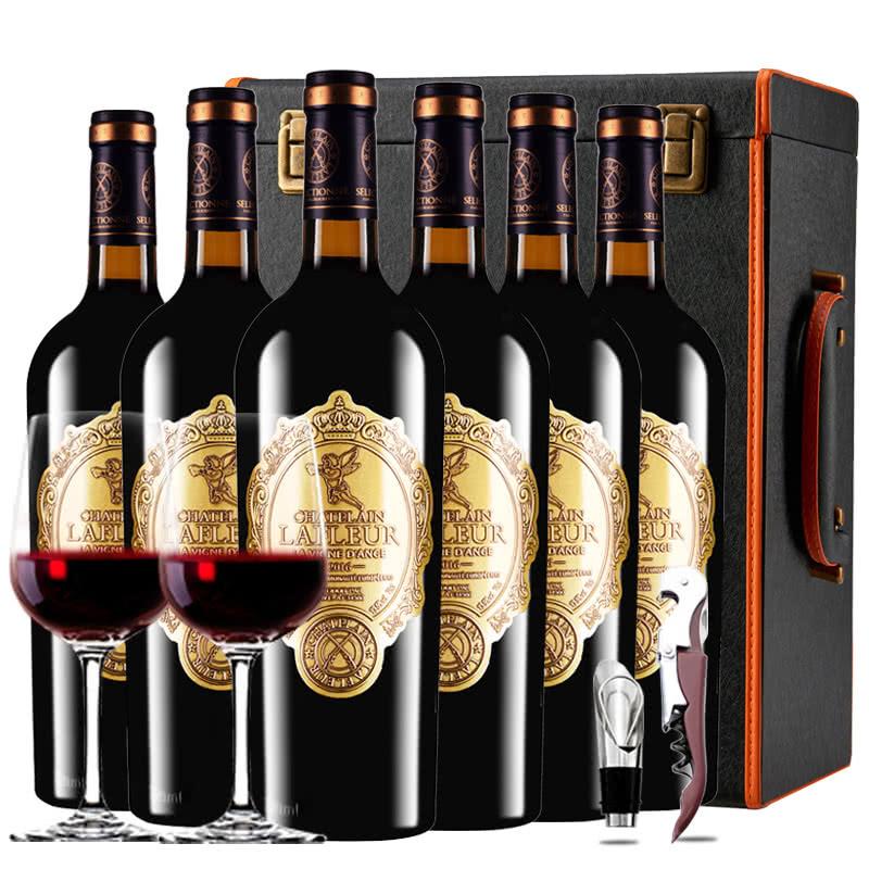 法国原瓶进口红酒拉斐天使庄园干红葡萄酒红酒礼盒整箱750ml*6