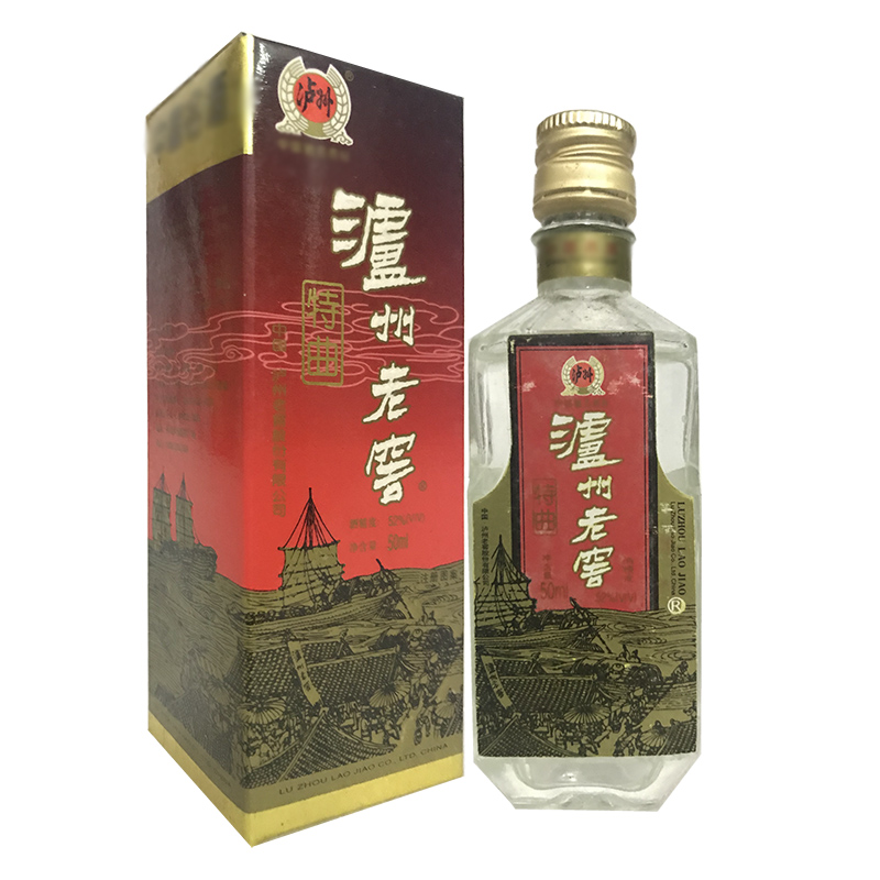 老酒 52度泸州老窖特曲酒50ml (2002年)