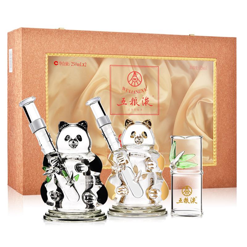 52°五粮液熊猫造型礼盒250ml*2