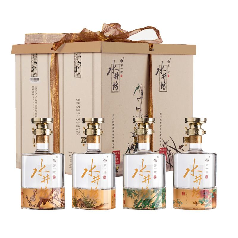 52°水井坊梅兰竹菊礼盒600ml*4