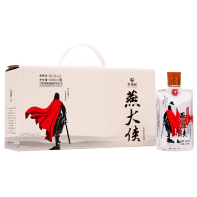 38.3°燕潮酩浓香型白酒 燕大侠130ml(8瓶装)