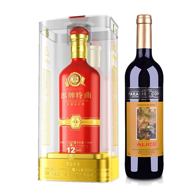 50°郎酒郎牌特曲鉴赏(12)500ml +西班牙红酒西班牙歌帕天堂·爱丽丝干红葡萄酒750ml