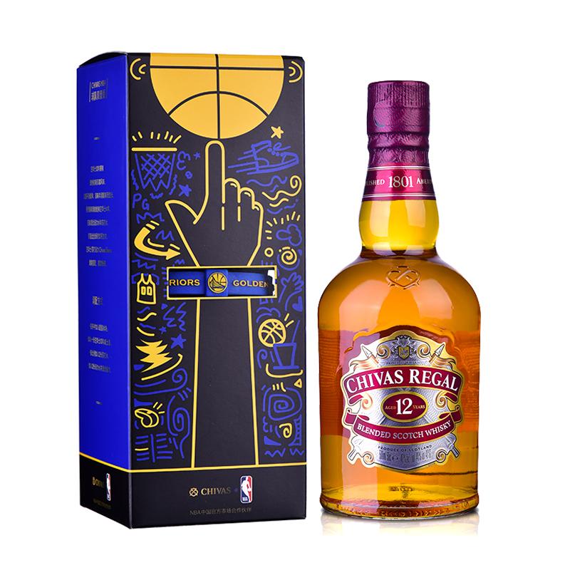 40°英国芝华士12年苏格兰威士忌球队限量手环礼盒500ml