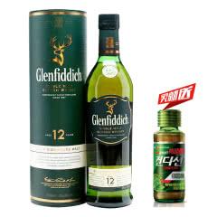 40°英国(Glenfiddich)格兰菲迪12年单一纯麦威士忌进口洋酒烈酒700ml