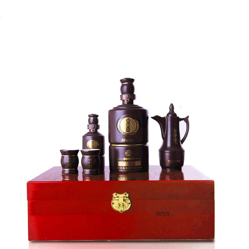 53°三十年古贝元礼盒装 酱香型白酒 750ml*1瓶100ml*1瓶