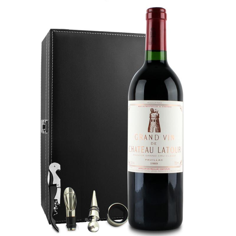 (列级庄·名庄·正牌)法国拉图酒庄1989干红葡萄酒750ml