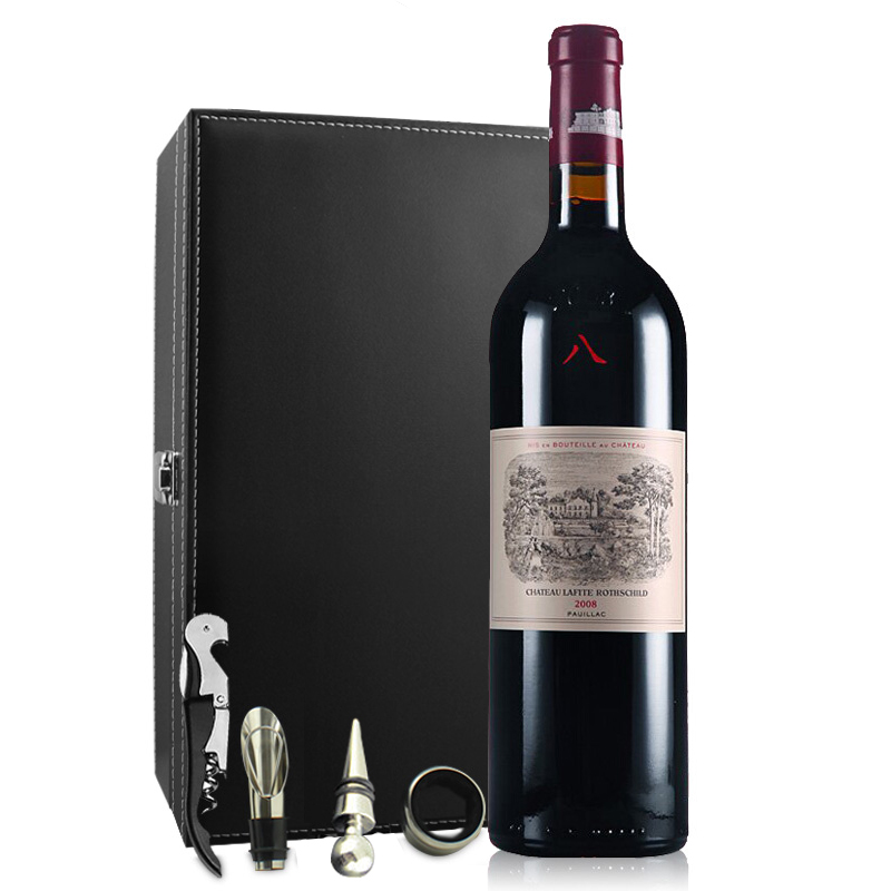 (列级庄·名庄·正牌)法国拉菲酒庄2008干红葡萄酒750ml(又译大拉菲、拉菲古堡)