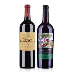 (列级庄·名庄·正牌)法国红酒法国波菲城堡2013红葡萄酒750ml +茉莉花超级波尔多干红葡萄酒750ml