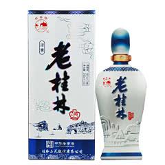 46度青花瓷清雅老桂林酒米香型白酒收藏礼品酒500ml