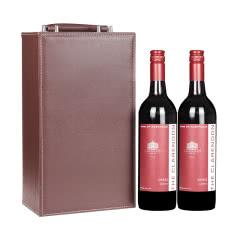澳大利亚克莱顿酒庄经典西拉干红葡萄酒750ml*2皮质礼盒装