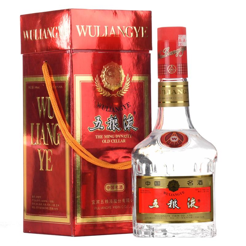【老酒收藏酒】52°五粮液(红盒)500ml (2000年)