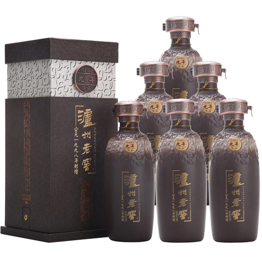 【老酒收藏酒】52°泸州老窖公元1998年封坛年份酒500ml(2007年)1箱6瓶