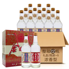 46°金六福福星礼盒装500ml×12(2009年)标颜色随机发货