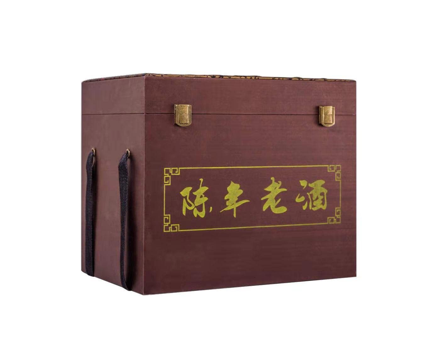 陈年老酒锦盒咖啡色(6瓶装)