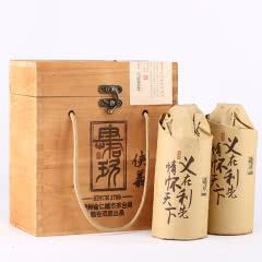 53°肆拾玖坊侠义酒酱香型白酒 原浆酒 白酒木箱礼盒装500ml*2瓶