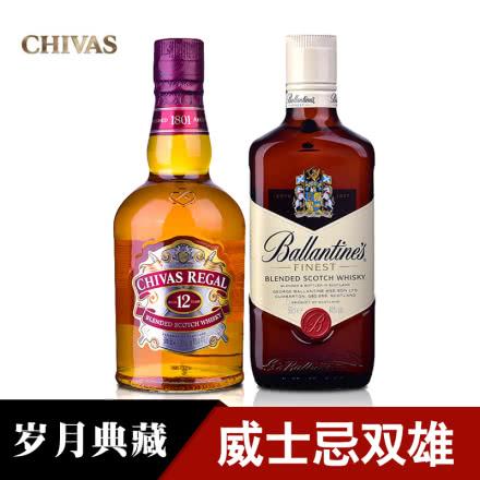 芝华士12年威士忌500ml+百龄坛500ml