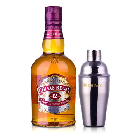40°英国芝华士12年苏格兰威士忌500ml+芝华士摇酒壶