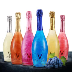 AVIVA魔幻云火焰起泡酒温格华星空酒葡萄酒红酒甜酒香槟酒六种不同口味750ml (6瓶)