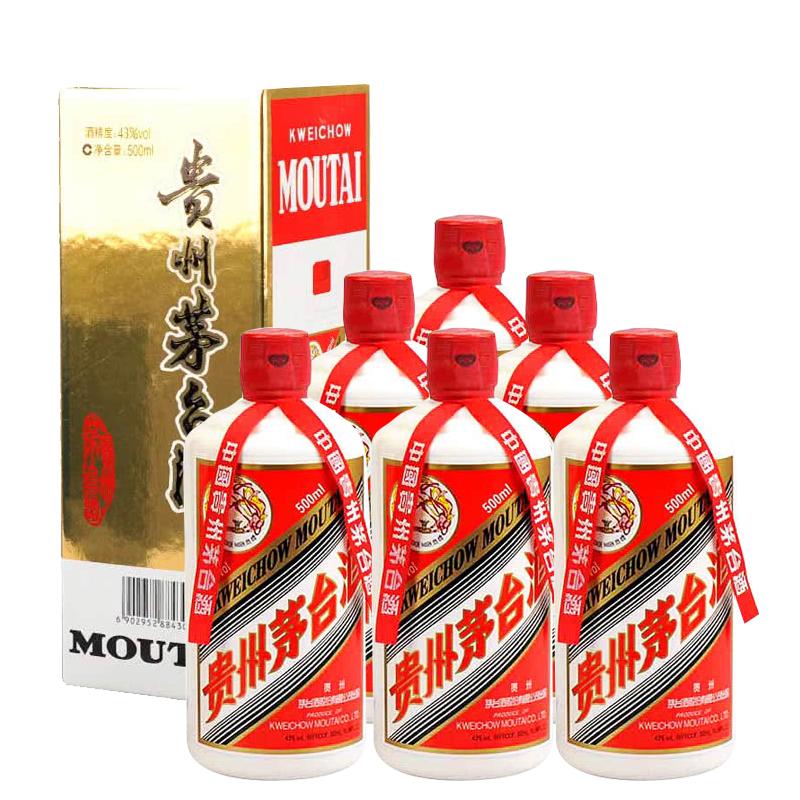43°茅台飞天500ml (6瓶装)