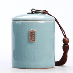 茶叶罐小陶瓷罐存茶罐装茶叶盒茶叶包装盒茶具家用密封罐茶盒