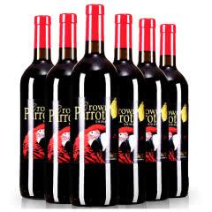 澳洲原瓶皇冠鹦鹉.红金刚西拉干红葡萄酒红酒(6支装)
