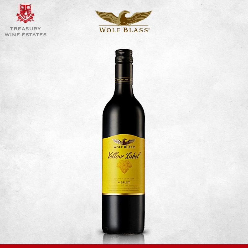 澳大利亚进口红酒纷赋黄牌梅洛干红葡萄酒750ml/瓶