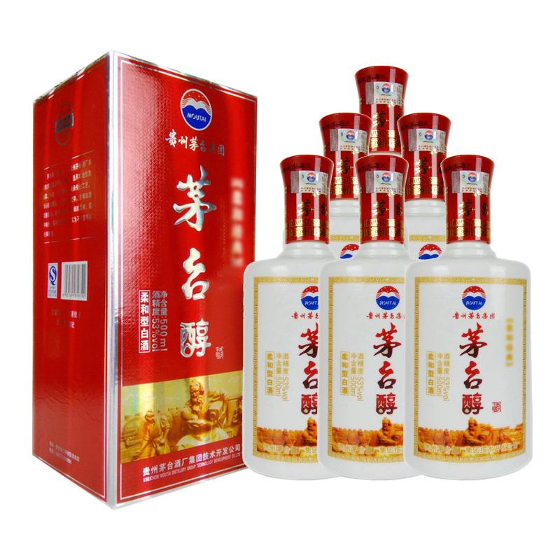 53º茅台醇鸿福酒500mlx6瓶(2012年)