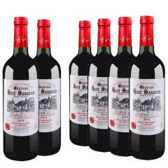 法国原瓶原装进口红酒 AOC级波尔多法定产区干红葡萄酒750ml(6瓶装)
