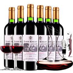 法国原瓶进口红酒黎明骑士酿酒师波尔多AOC级干红葡萄酒红酒整箱装750ml*6