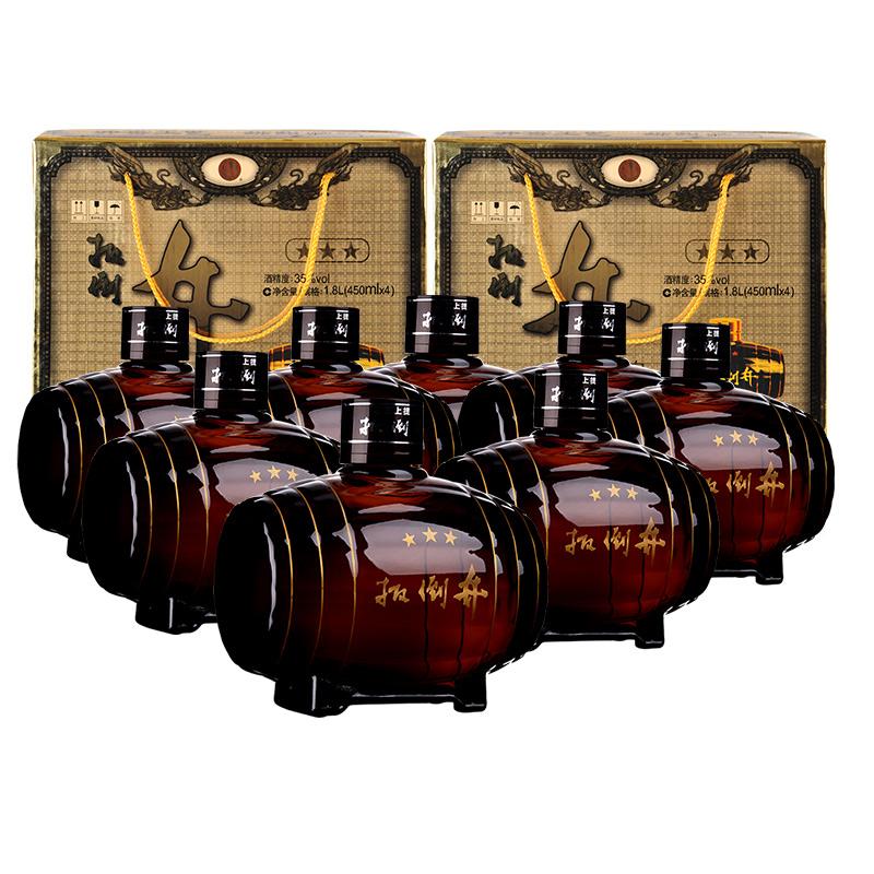【酒厂直营】35°扳倒井小三星450ml手提礼盒(8瓶装)