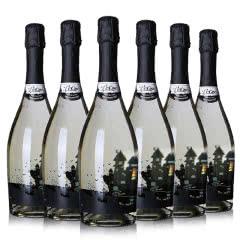 意大利进口乐客黑城堡起泡甜葡萄酒低度女士少女甜型红酒750ml(6瓶装)