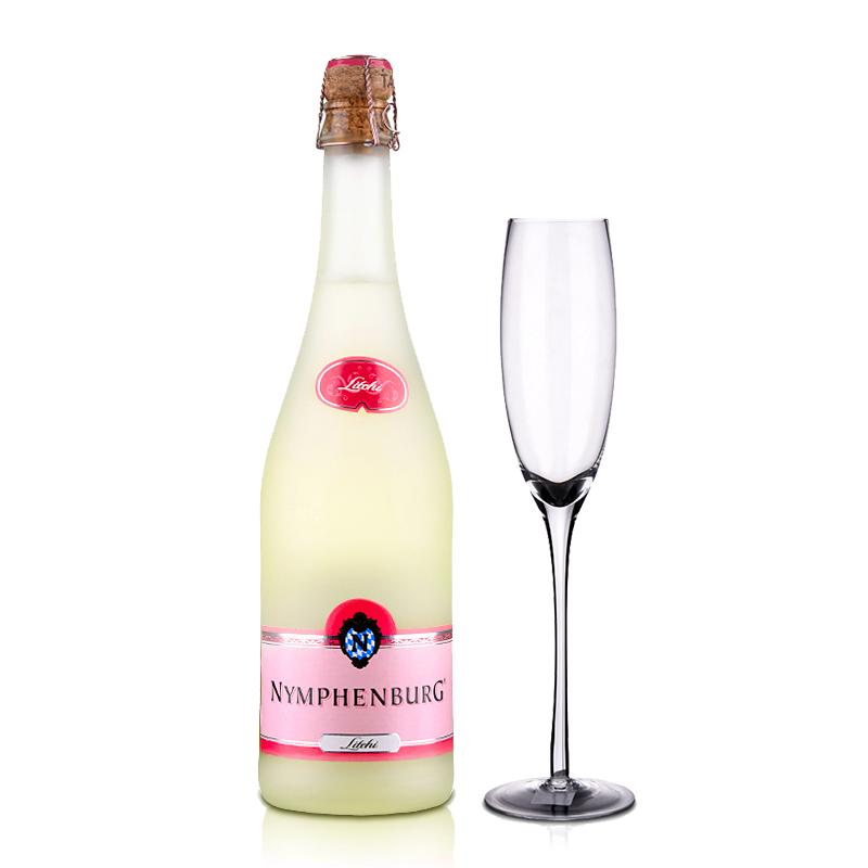 德国起泡酒侬芬堡荔枝起泡葡萄酒750ml +手工水晶香槟杯186ml