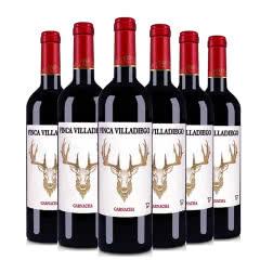 西班牙原瓶进口金鹿干红葡萄酒红色盖帽750ml*6瓶装