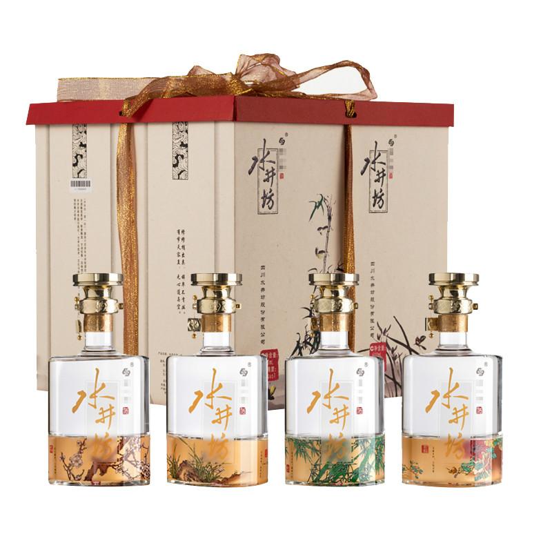 【礼盒】52°水井坊梅兰竹菊礼盒600ML*4瓶