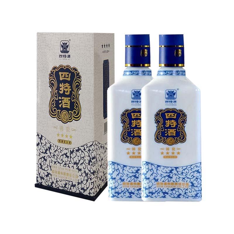 52°四特酒锦瓷四星460ml(2瓶装)