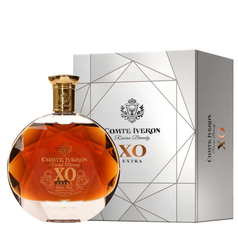 40°法国洋酒(原瓶进口)邑龙伯爵XO白兰地700ml*1瓶 礼盒装