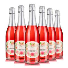 西班牙原瓶进口整箱Algod花季粉色香槟起泡酒葡萄酒整箱装(共6支)