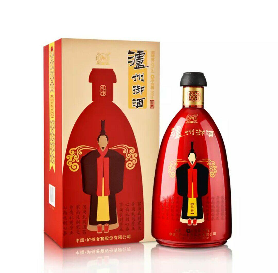 52度泸州御酒 礼传 喜宴白酒 999ml(6瓶)