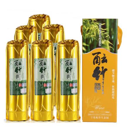 52°妙竹生态竹筒酒白酒原生态鲜活竹筒酒500ml(6瓶装)