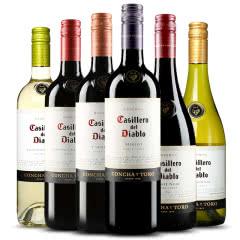 红魔鬼红酒大礼包 智利原瓶进口葡萄酒 六种口味组合 六支组合装  750ml(6瓶装)