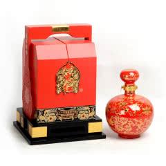 绍兴黄酒 女儿红三十年花雕酒30年陈酿中国红坛装礼盒1.5L半干型