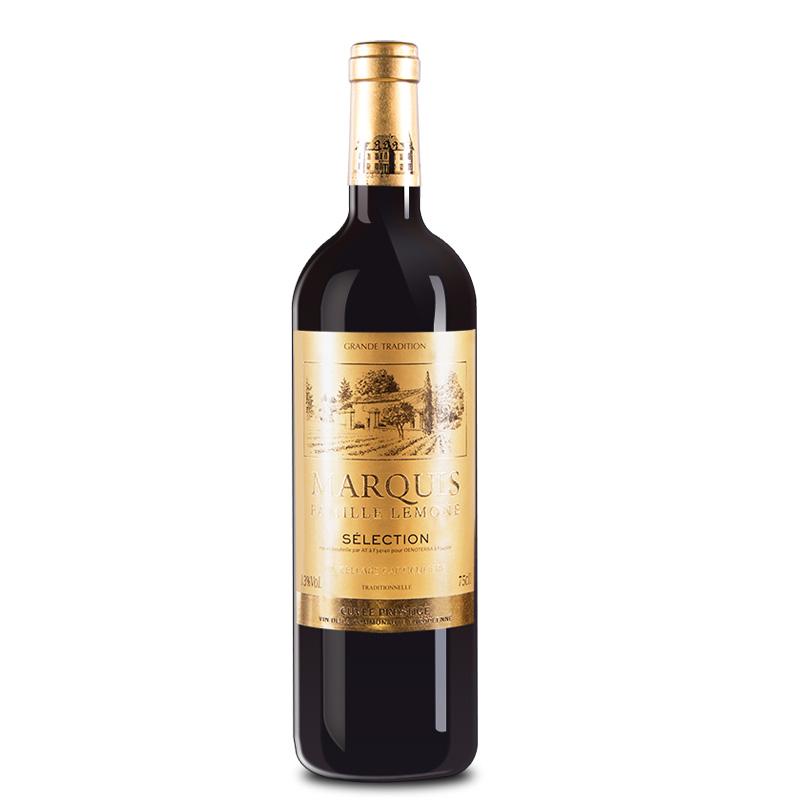 法国红酒(原瓶进口)梦图侯爵干红葡萄酒750ml*1瓶