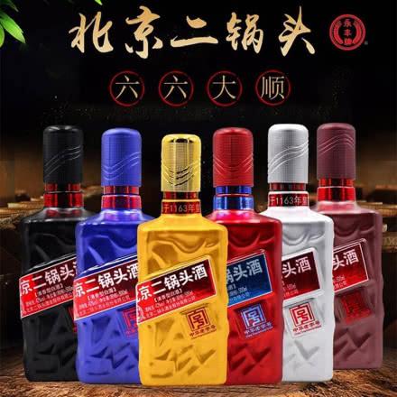 42°永丰牌北京二锅头六六大顺清香型白酒500ml(6瓶)白酒整箱